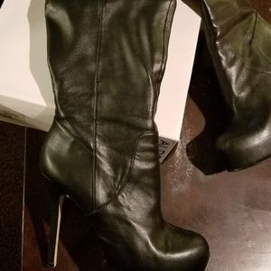 Aldo Thigh High Platform Boots